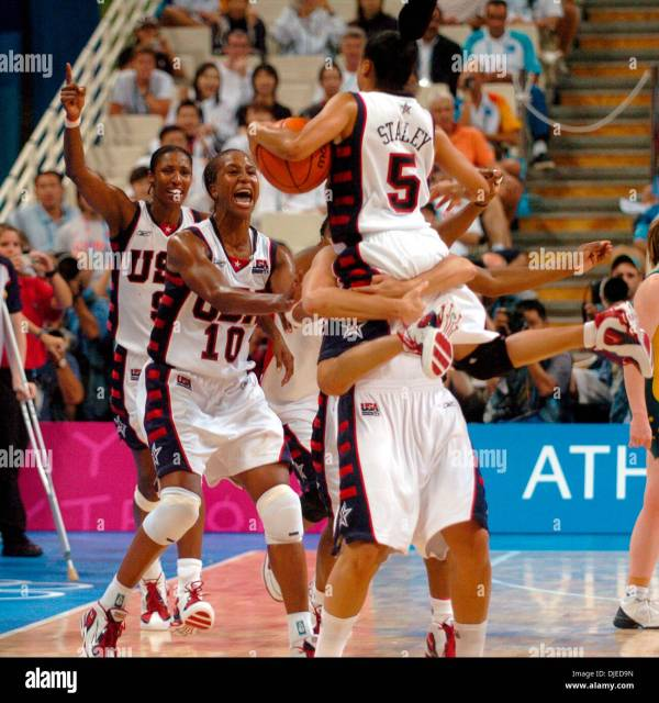 Aug 28, 2004; Athens, GREECE; The U.S. Olympic women's ...