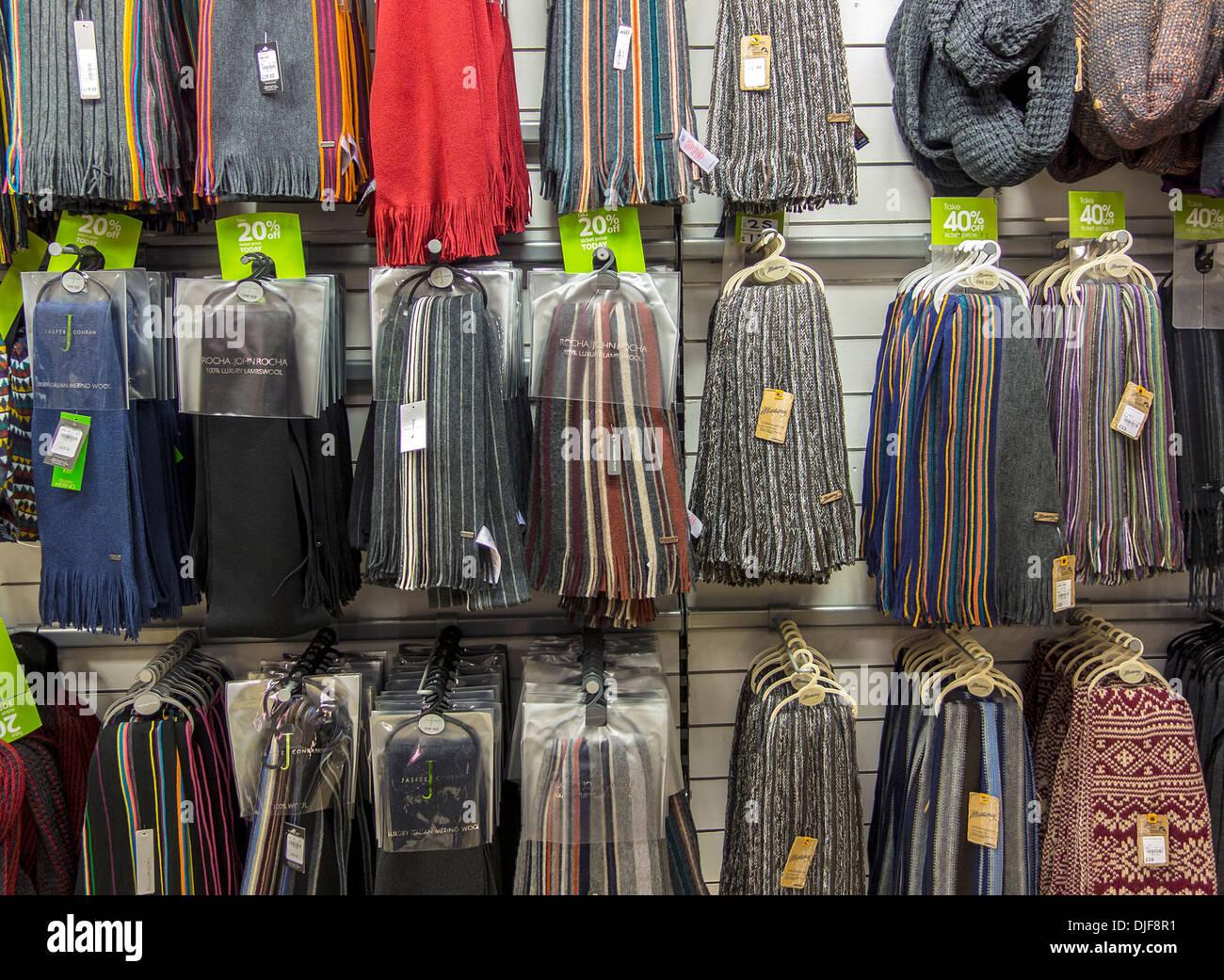 https www alamy com winter mens scarves scarf display debenhams store image63031109 html