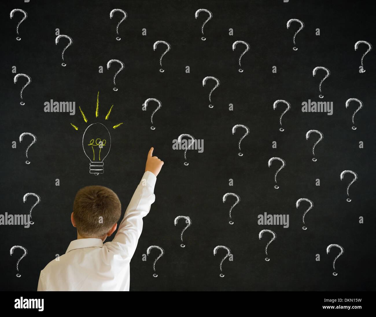 Illustration Kid Thinking School Stock Photos