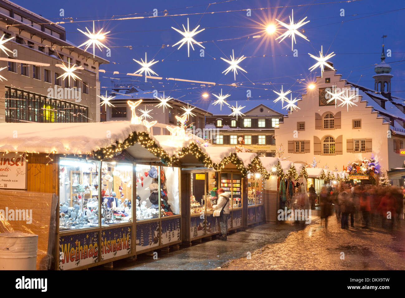 Switzerland Europe Night Dark Christmas Advent Canton SG