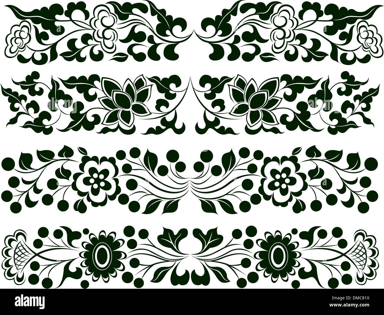 Flower Border Design Stock Vector Image Art Alamy