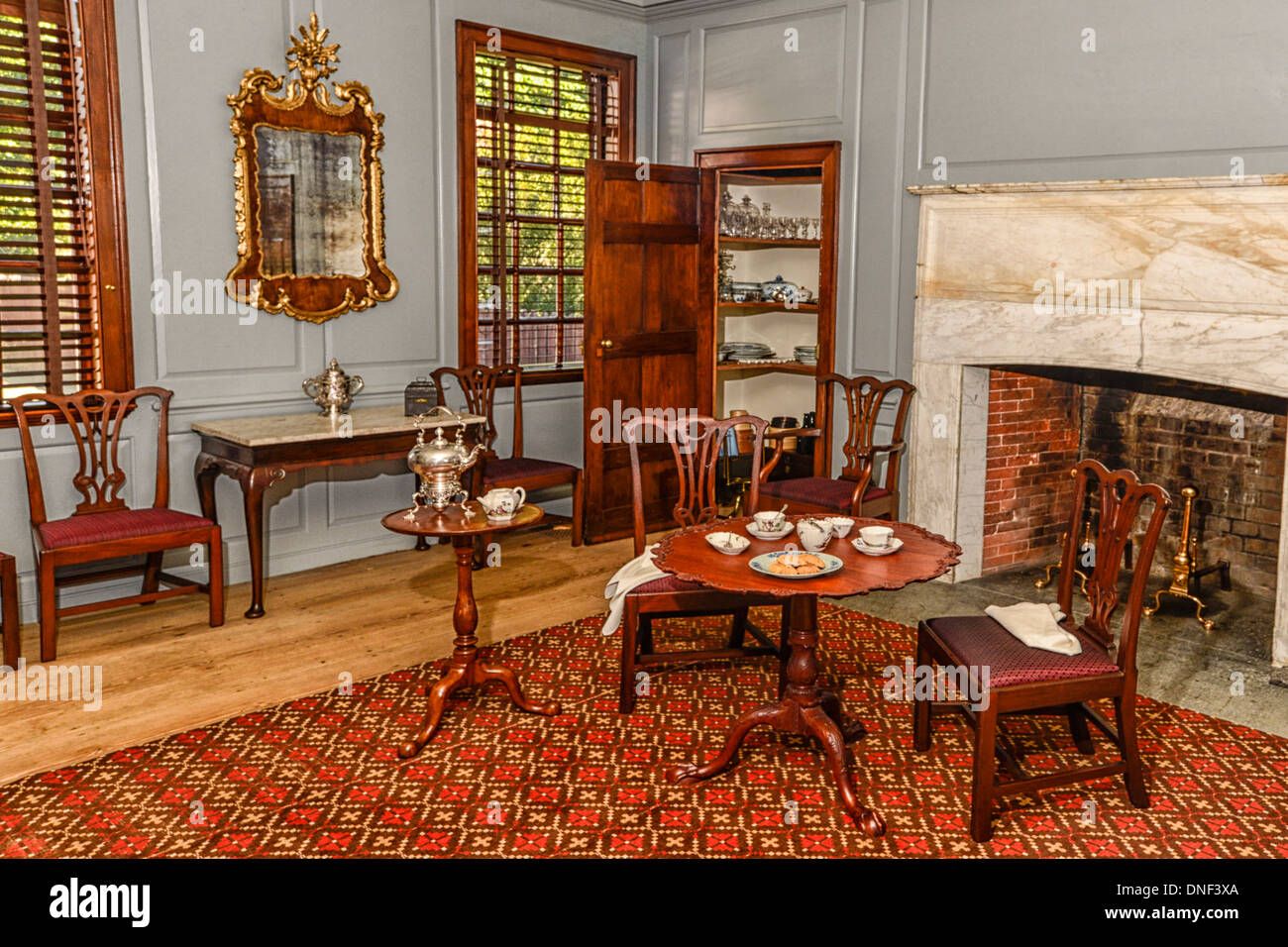 Peyton Randolph House Interior Room And Furnishings In