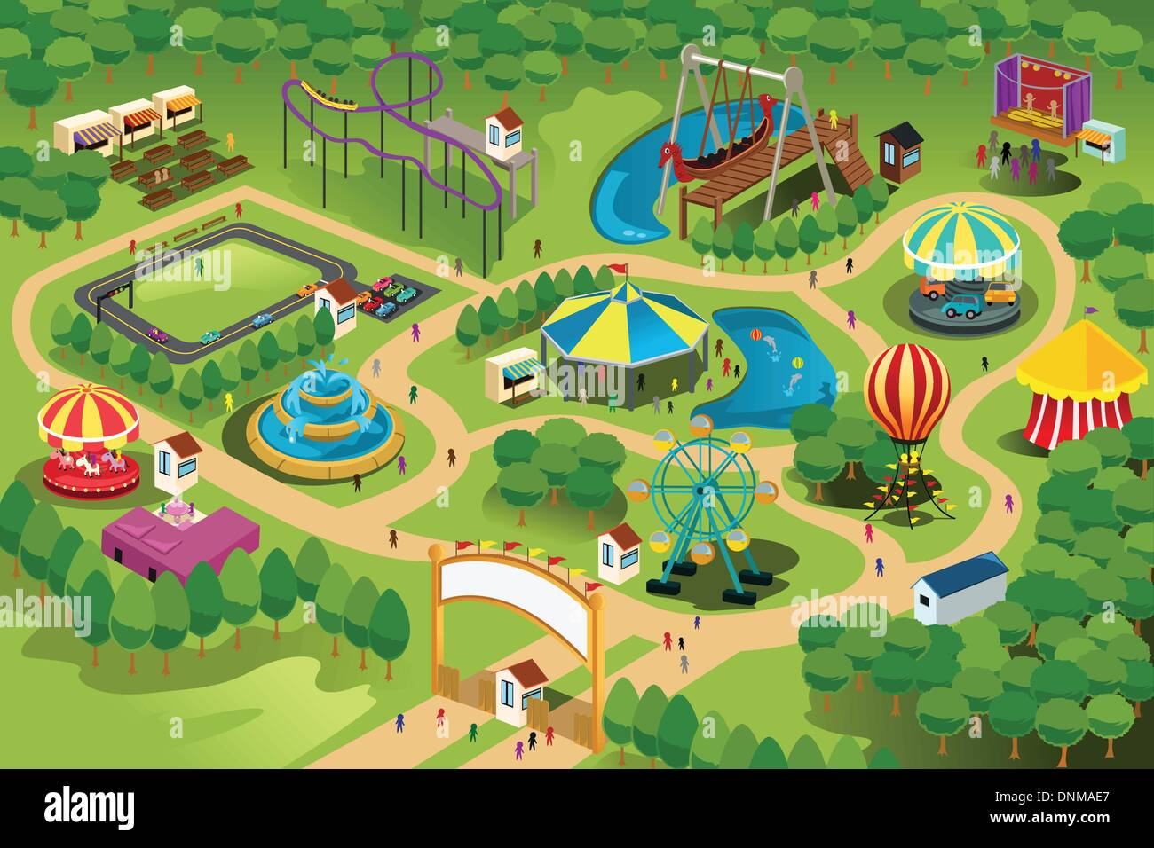 Theme Park Map High Resolution Stock Photography And Images Alamy