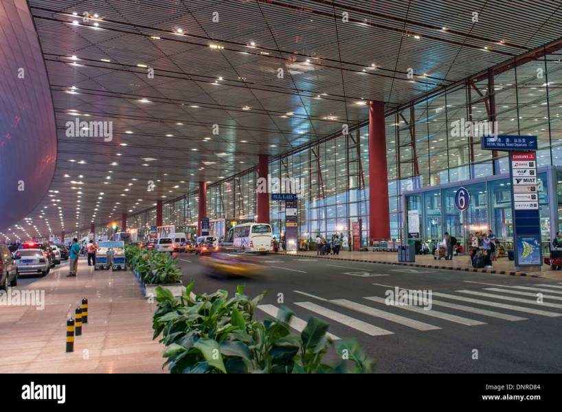 Beijing Airport Beijing Stock Photos   Beijing Airport Beijing Stock     Beijing Capital International Airport in Bejing  China   Stock Image