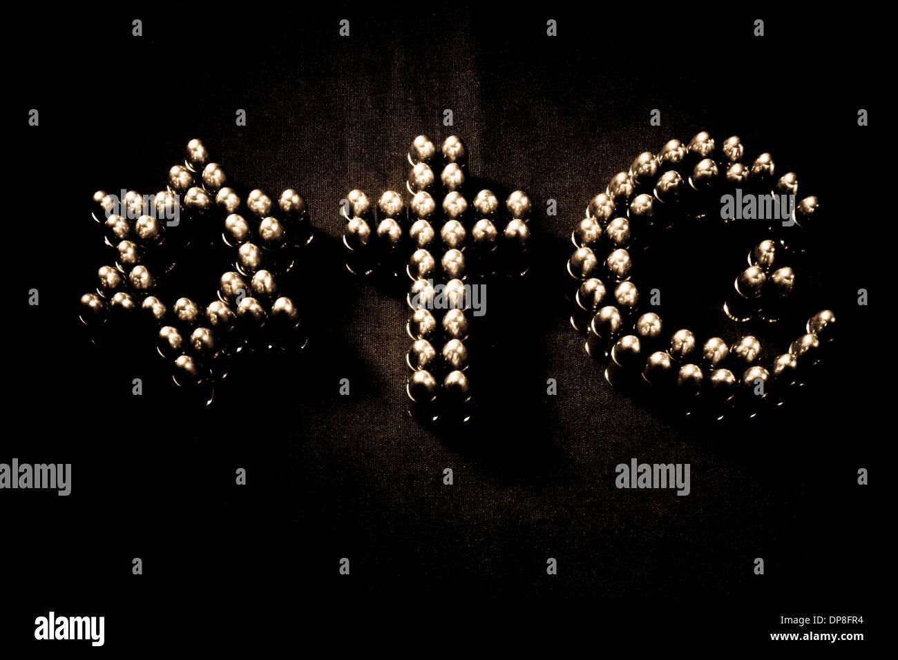 Symbols Of Abrahamic Cults Stock Photo Royalty Free Image