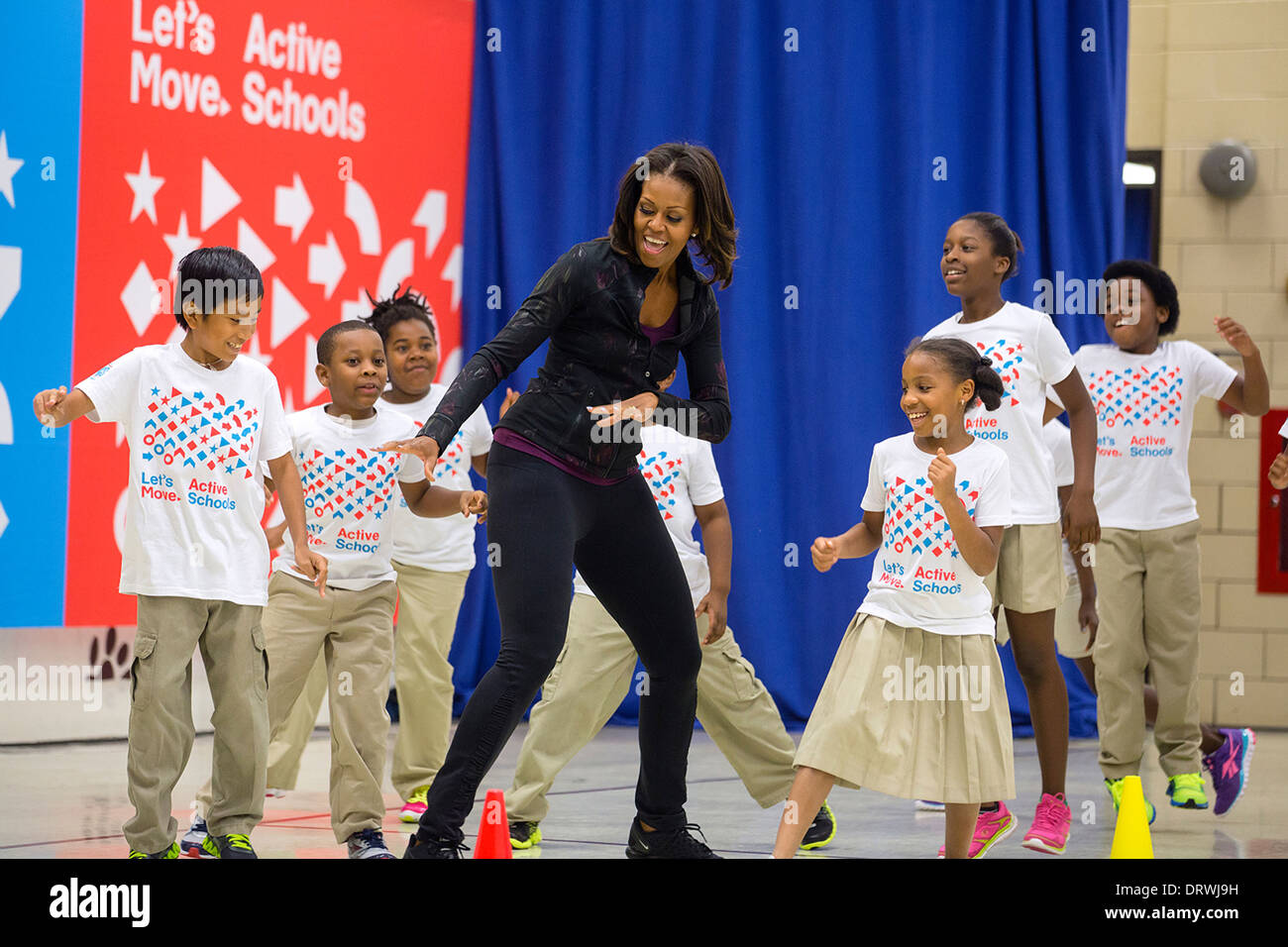 Michelle Obama Let S Move Stock Photos Amp Michelle Obama Let S Move Stock Images