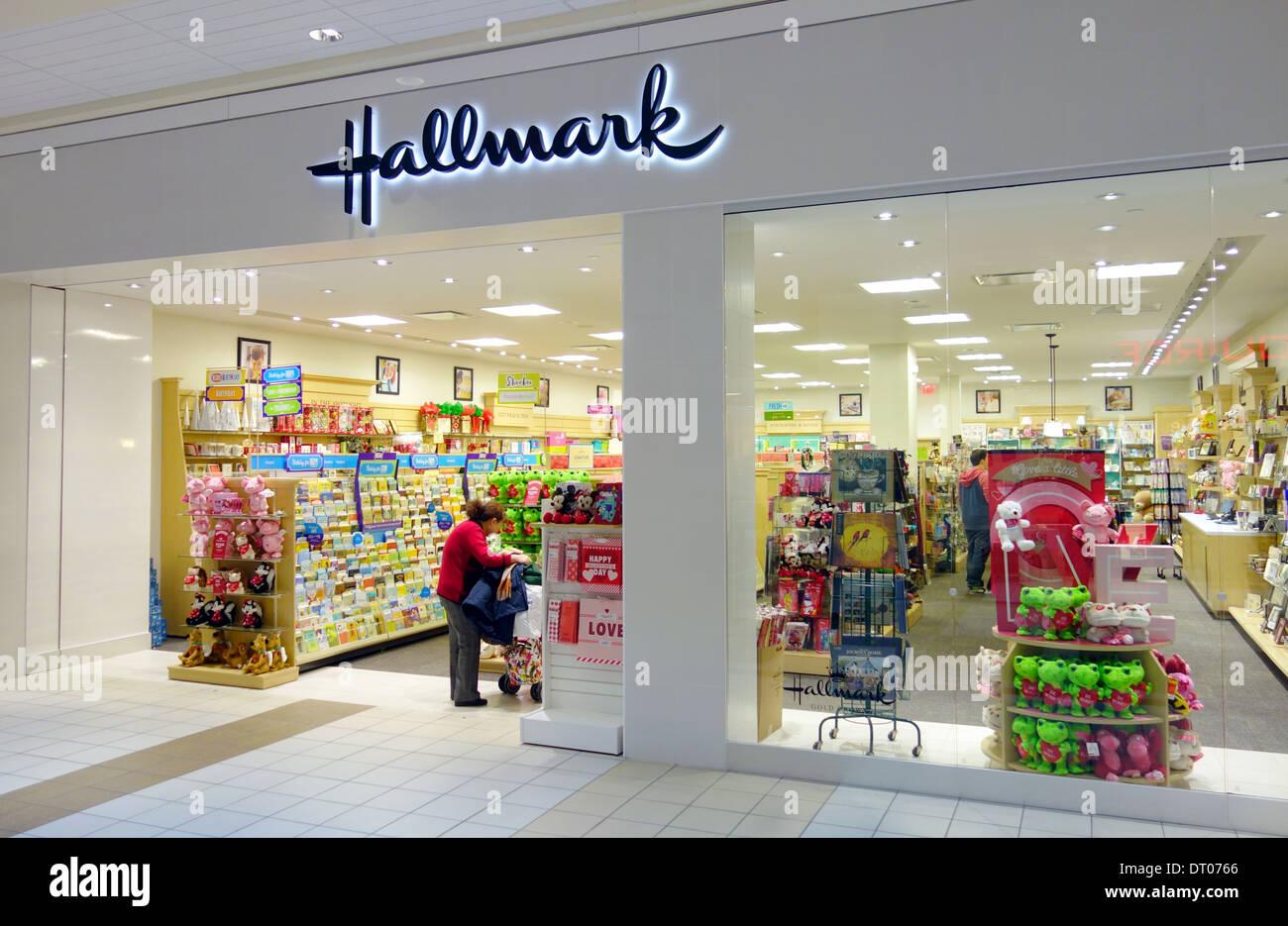 Hallmark Store In A Mall In Toronto Canada Stock Photo