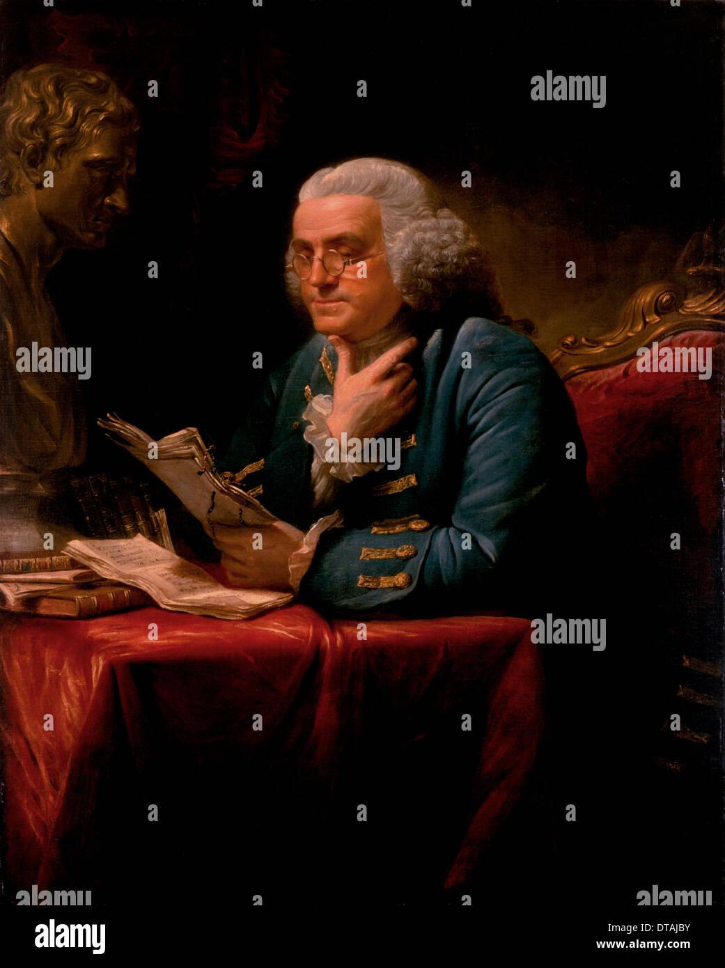 Portrait Of Benjamin Franklin Artist Martin David