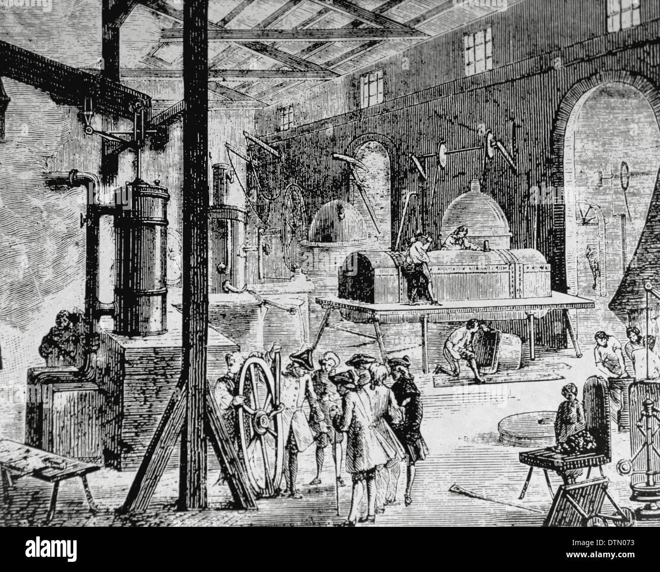 Industrial Revolution London Interior Of An English