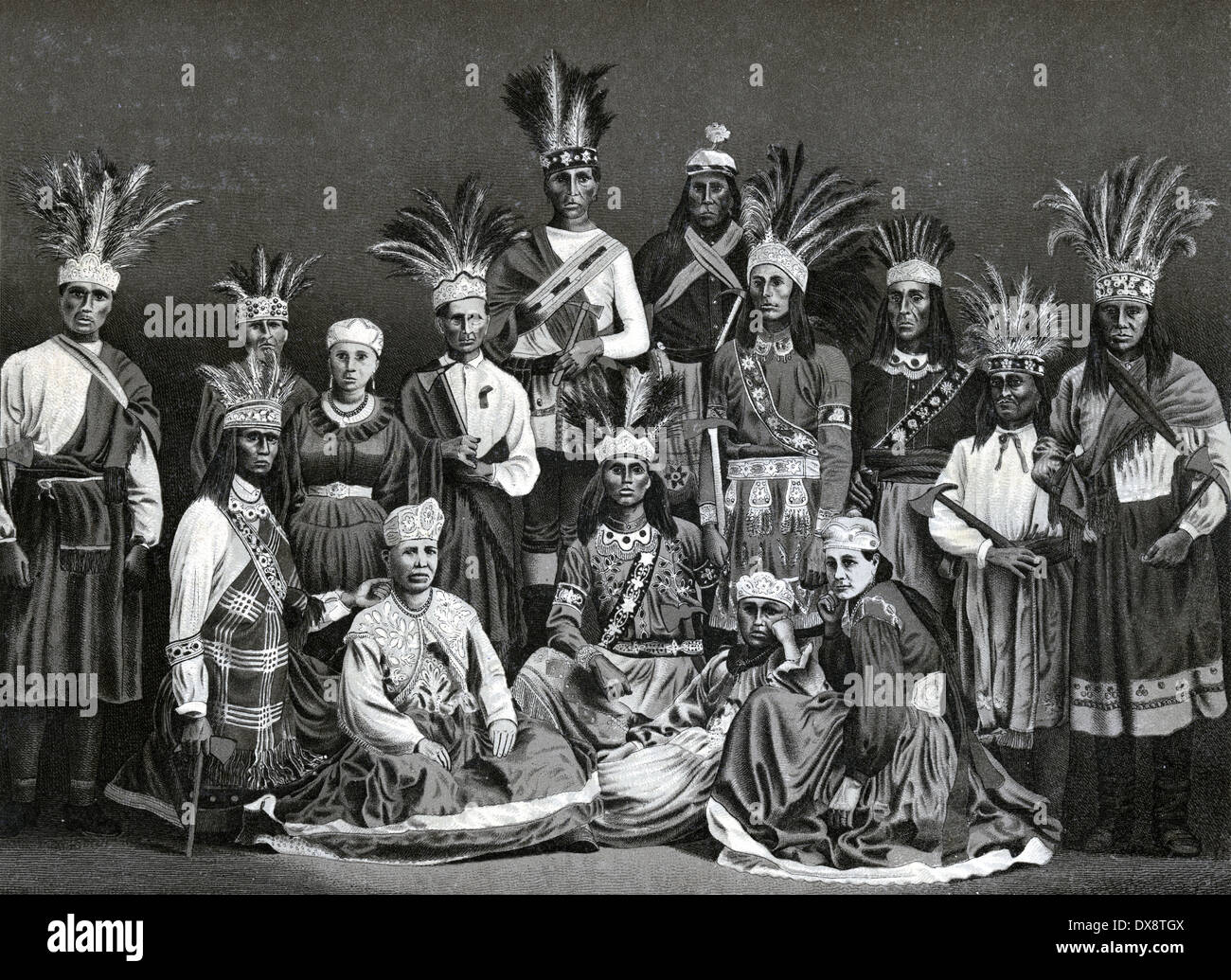 Circa View Of Iroquois Indians In Montreal Quebec