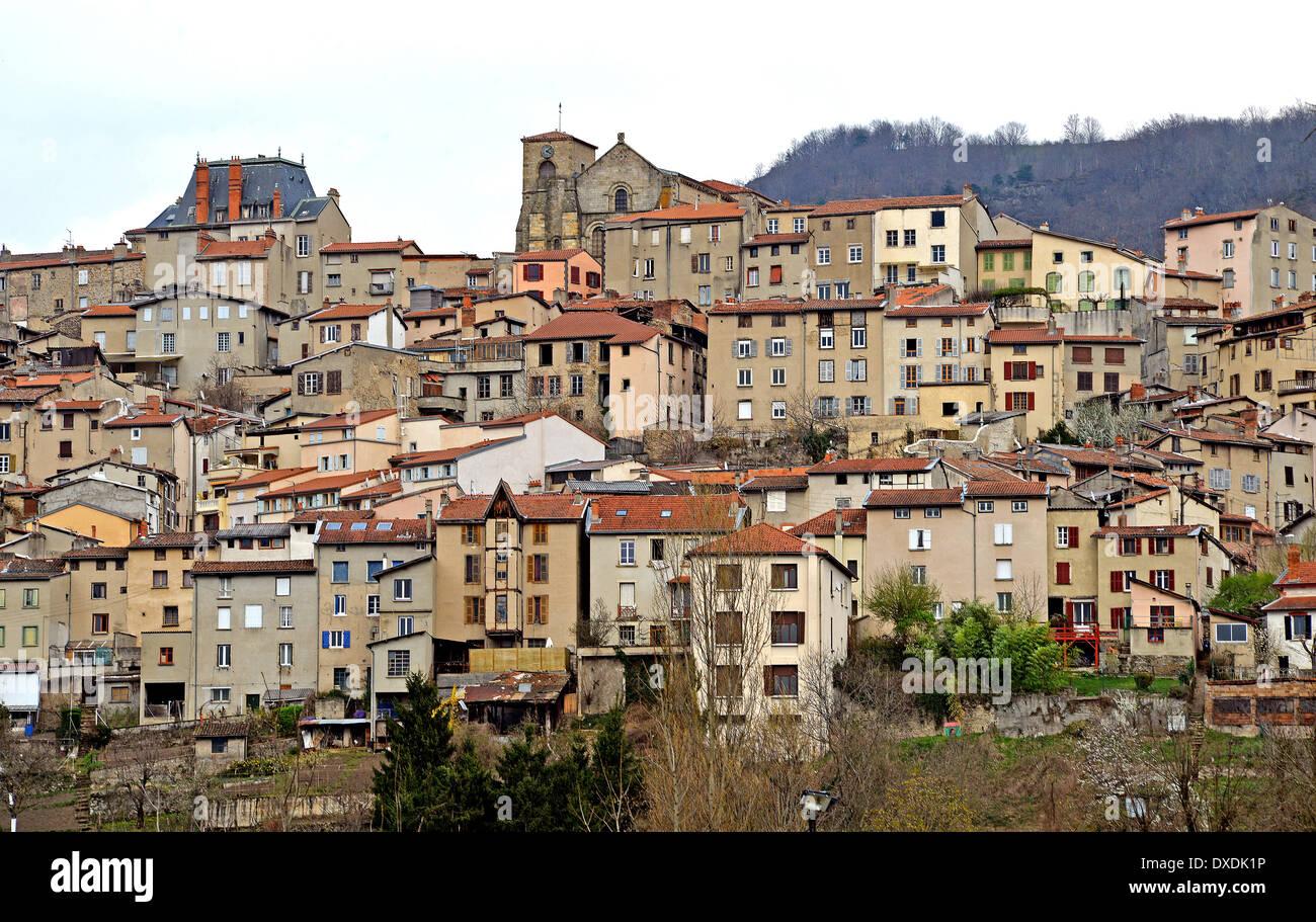 Thiers City Puy De Dome Auvergne Massif Central France