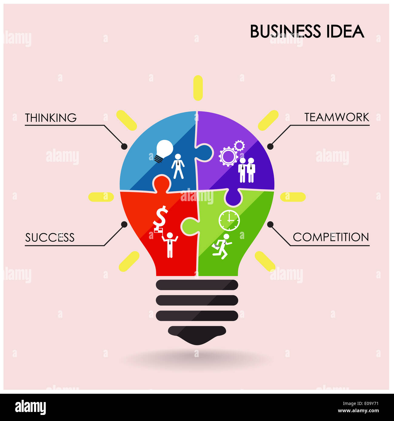 https www alamy com creative light bulb idea concept background design for poster flyer image69060405 html