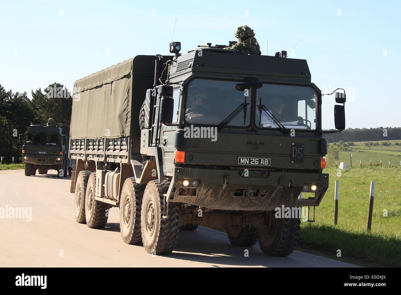 British Army MAN Cargo Truck 8x8 Stock Photo Royalty Free