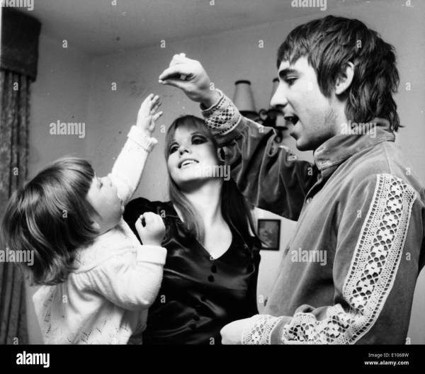 The Who drummer Keith Moon with his family Stock Photo ...