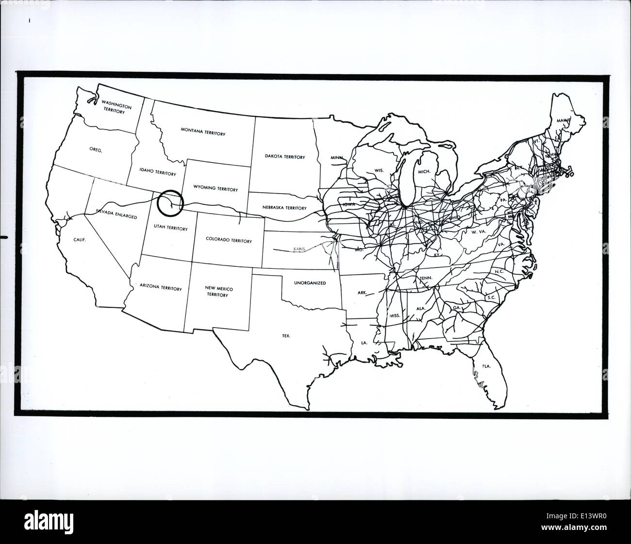 Latest Map Images Map Transcontinental Railroad Golden Spike