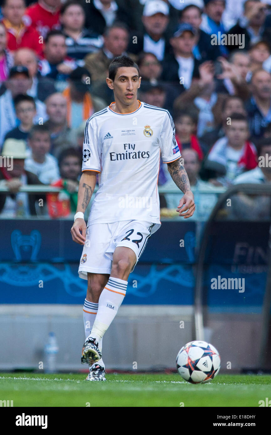 https www alamy com lisbon portugal 24th may 2014 angel di maria real footballsoccer uefa image69642439 html