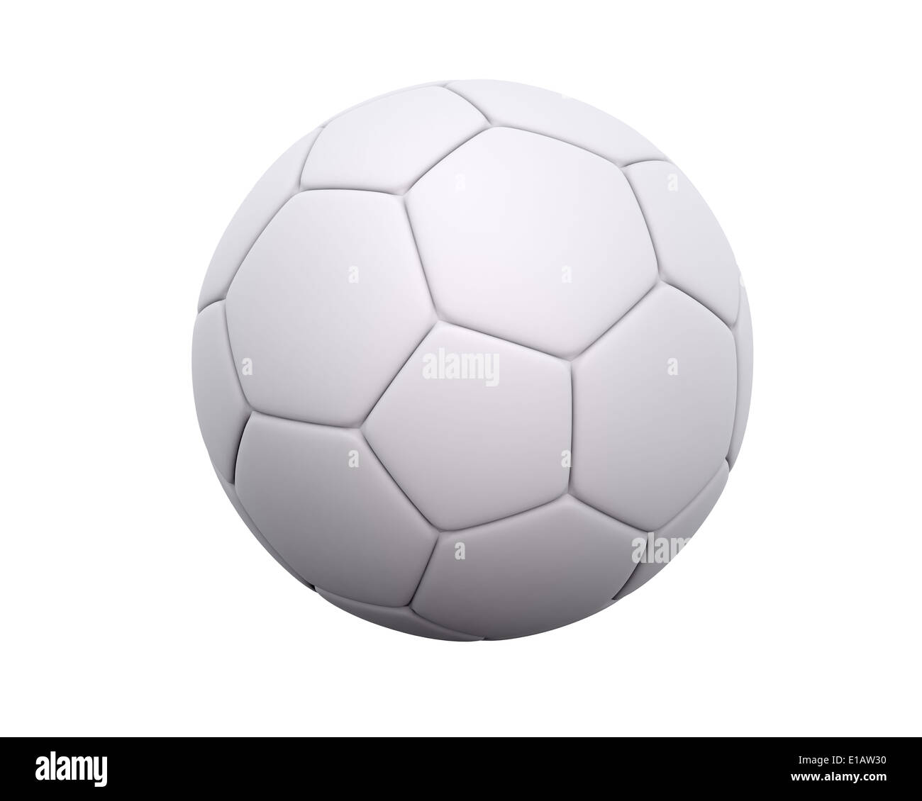 Blank Soccer Ball Football With Leather Hexagon And