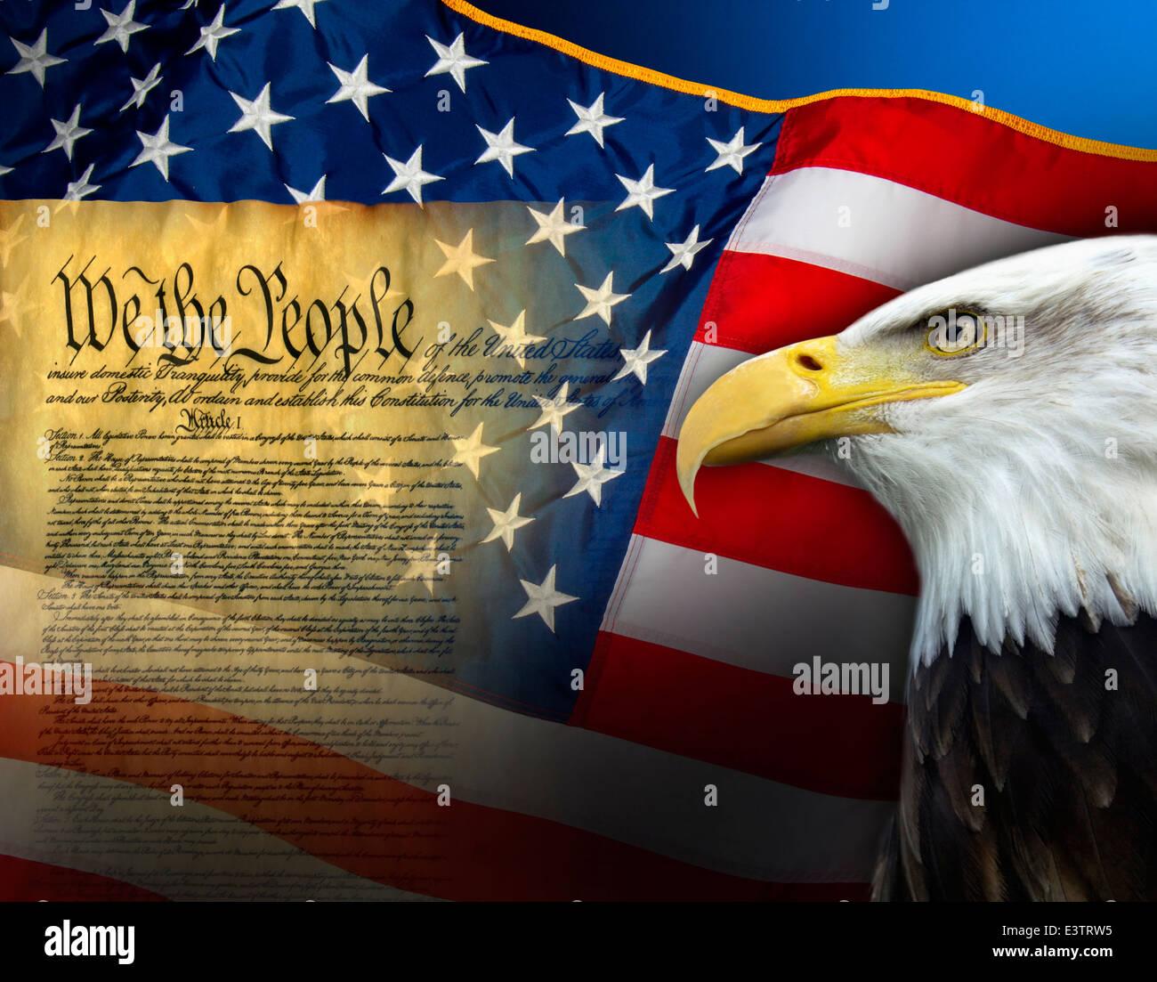 Patriotic Symbols Of The United States Of America Stock