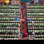 A Lithium Ion Battery Pack Is Charged During Qualifying Races For The Stock Photo Alamy