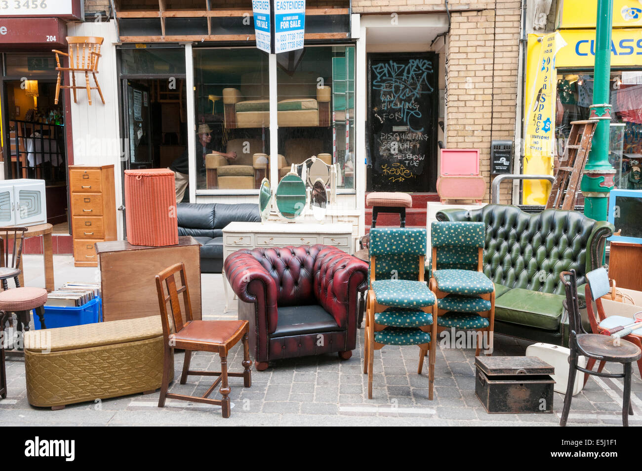 https www alamy com stock photo second hand used furniture for sale on brick lane tower hamlets london 72311093 html