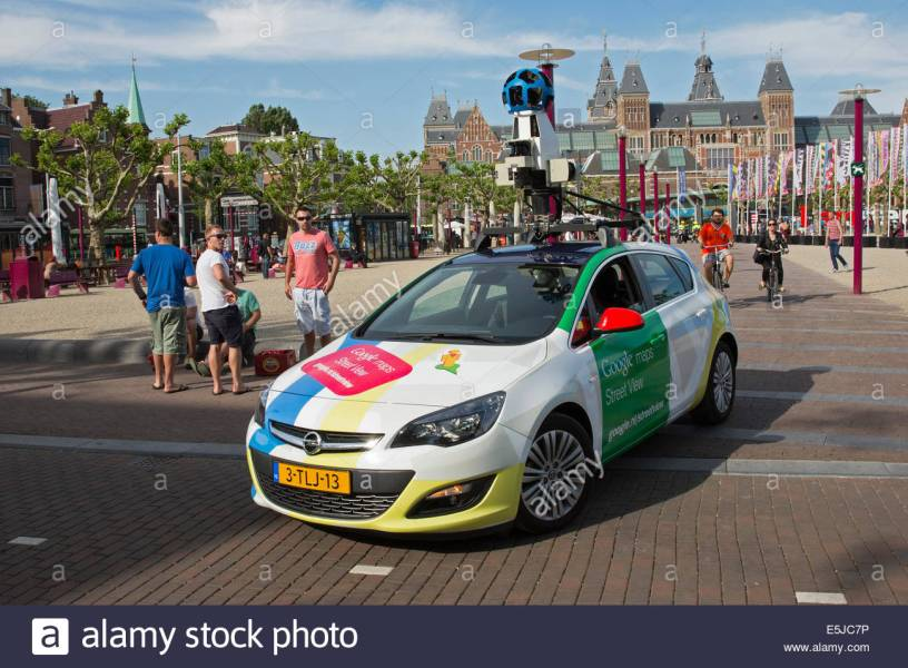 Netherlands  Amsterdam  Google Maps Street View recording car on     Netherlands  Amsterdam  Google Maps Street View recording car on Museumplein