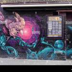 Comedy Cafe Theatre With Graffiti Wall Art In Shoreditch Stock Photo Alamy