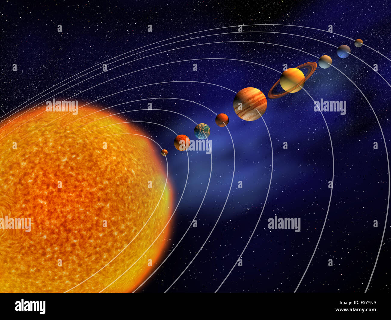 Solar System Diagram High Resolution Stock Photography And
