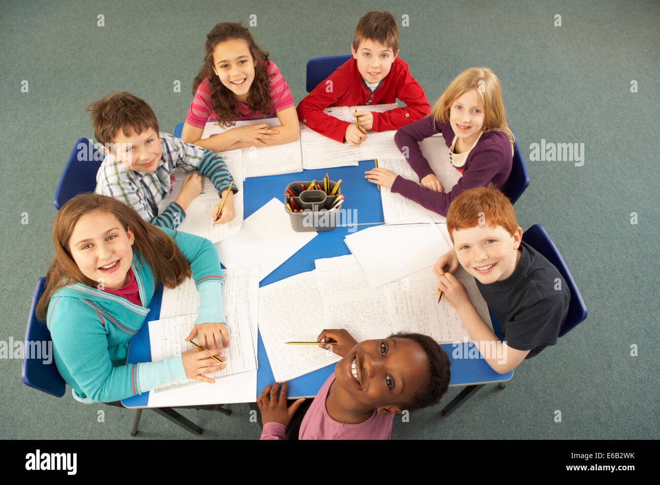 Teamwork Elementary Student School Class Stock Photo