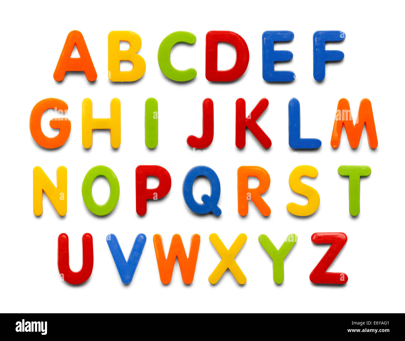 Magnetic Plastic Alphabet Colorful Abc Letters Isolated On