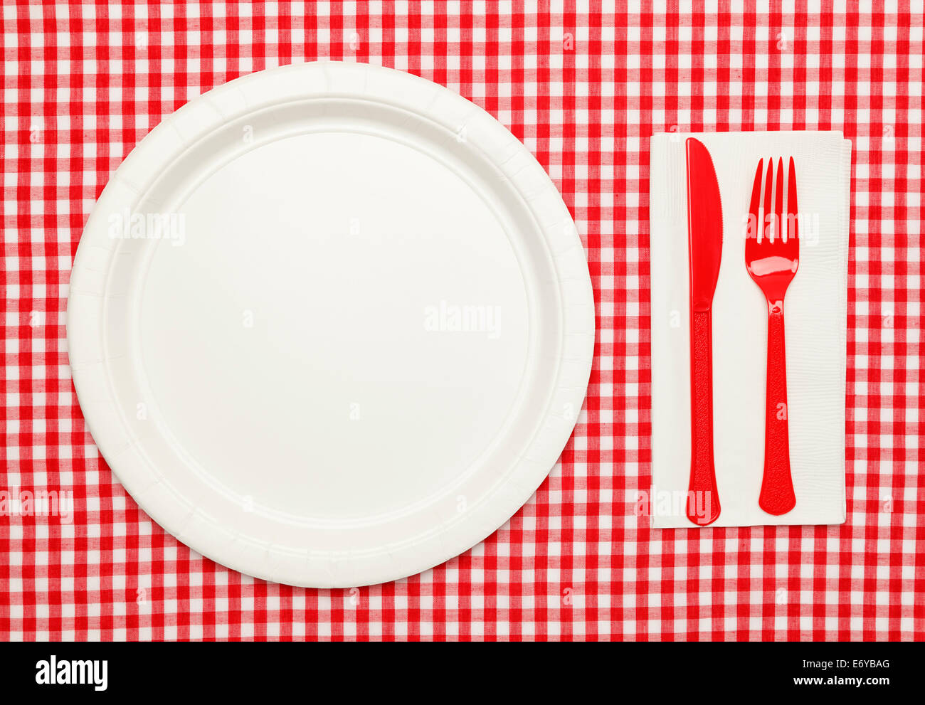 Red Gingham Plastic Tablecloth 100 Foot Roll Home