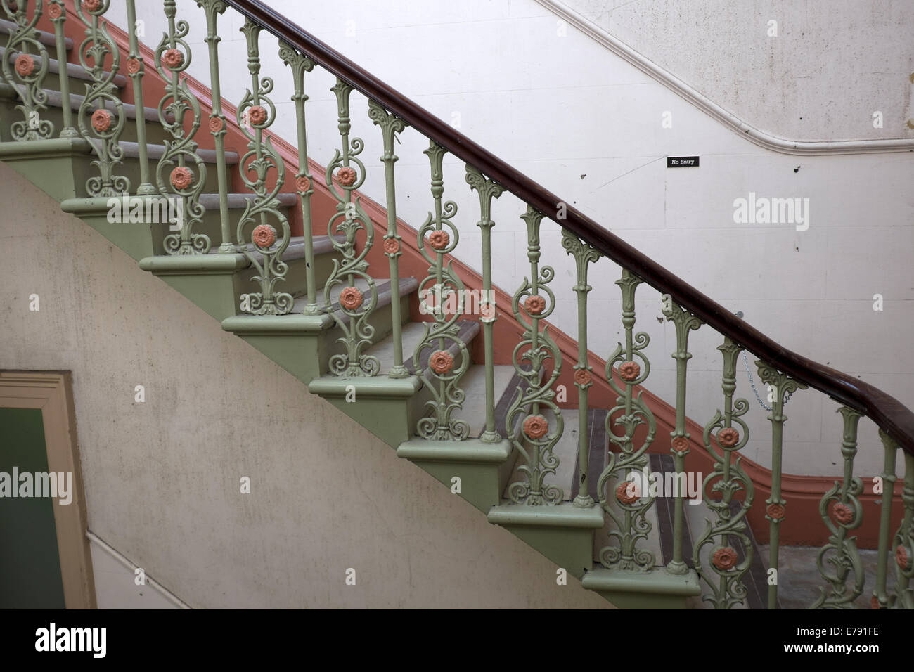 Cast Iron Staircase High Resolution Stock Photography And Images | Cast Iron Stair Railing | Residential | Horizontal | Chrome Picket Interior | Custom | Iron Baluster