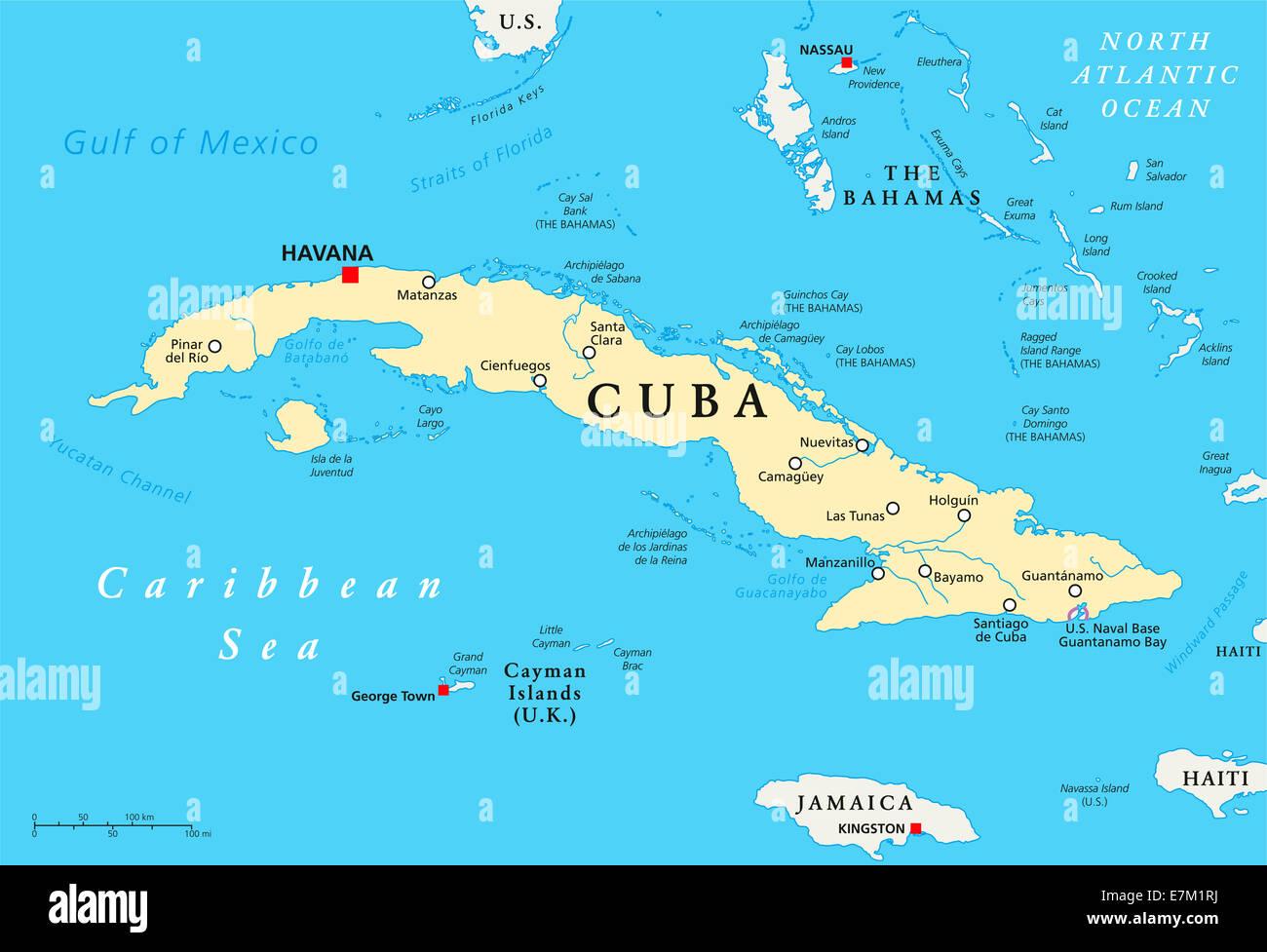 Kuba Kapital Karte