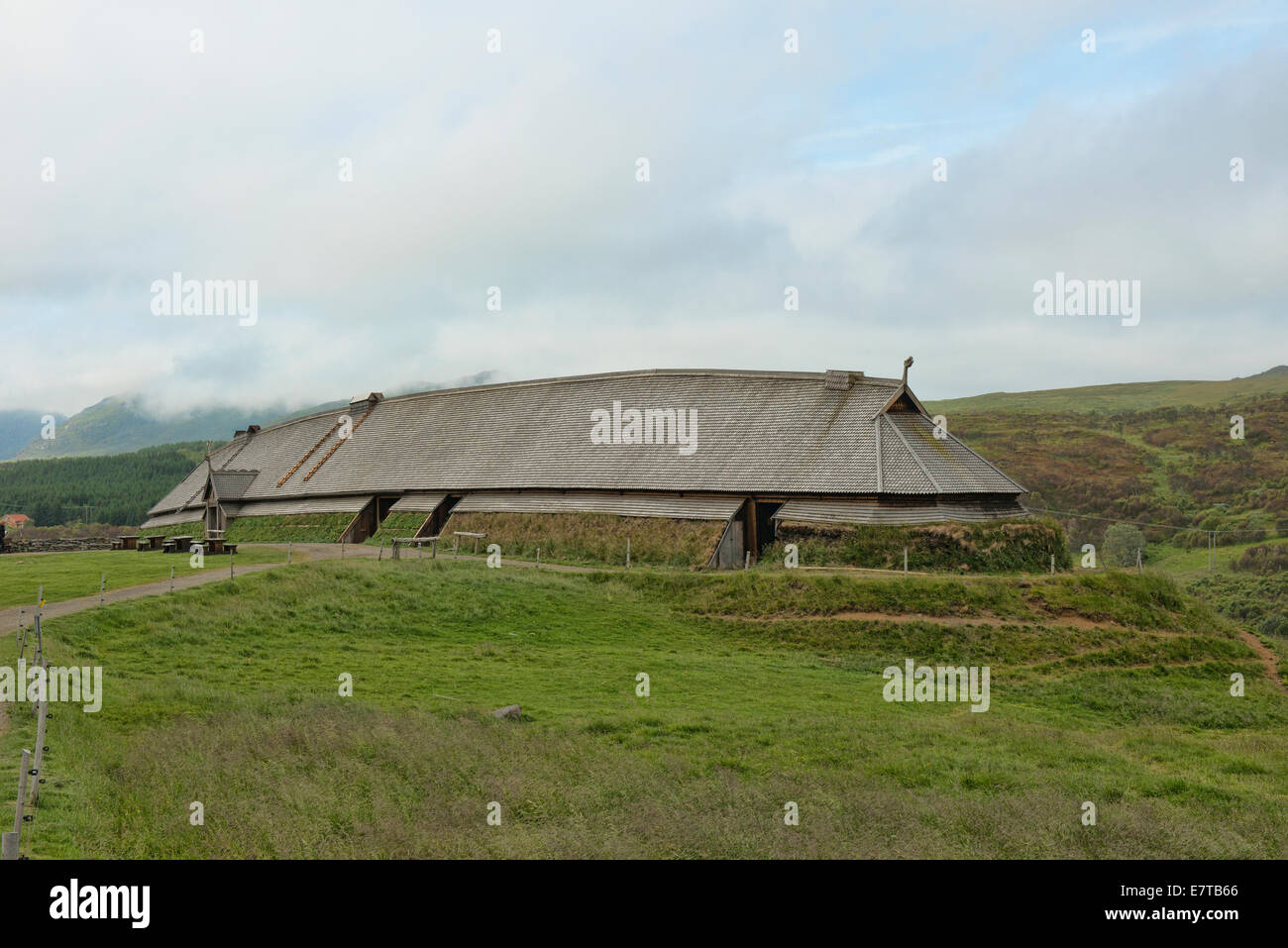 Traditional Viking Longhouse In The Lofoten Islands
