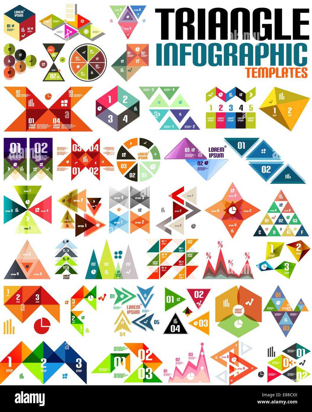 Geometric Shape Infographic Template Set