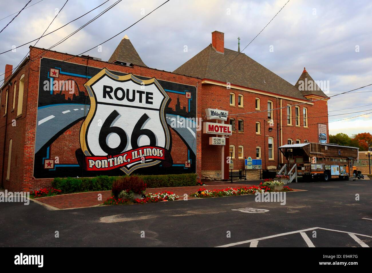 Route 66 Mural Route 66 Museum Pontiac Illinois Stock Photo Royalty Free Image 74479428 Alamy