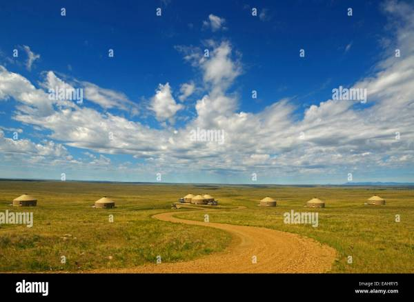 Yurt Camp on the Great Plains of Montana at American ...