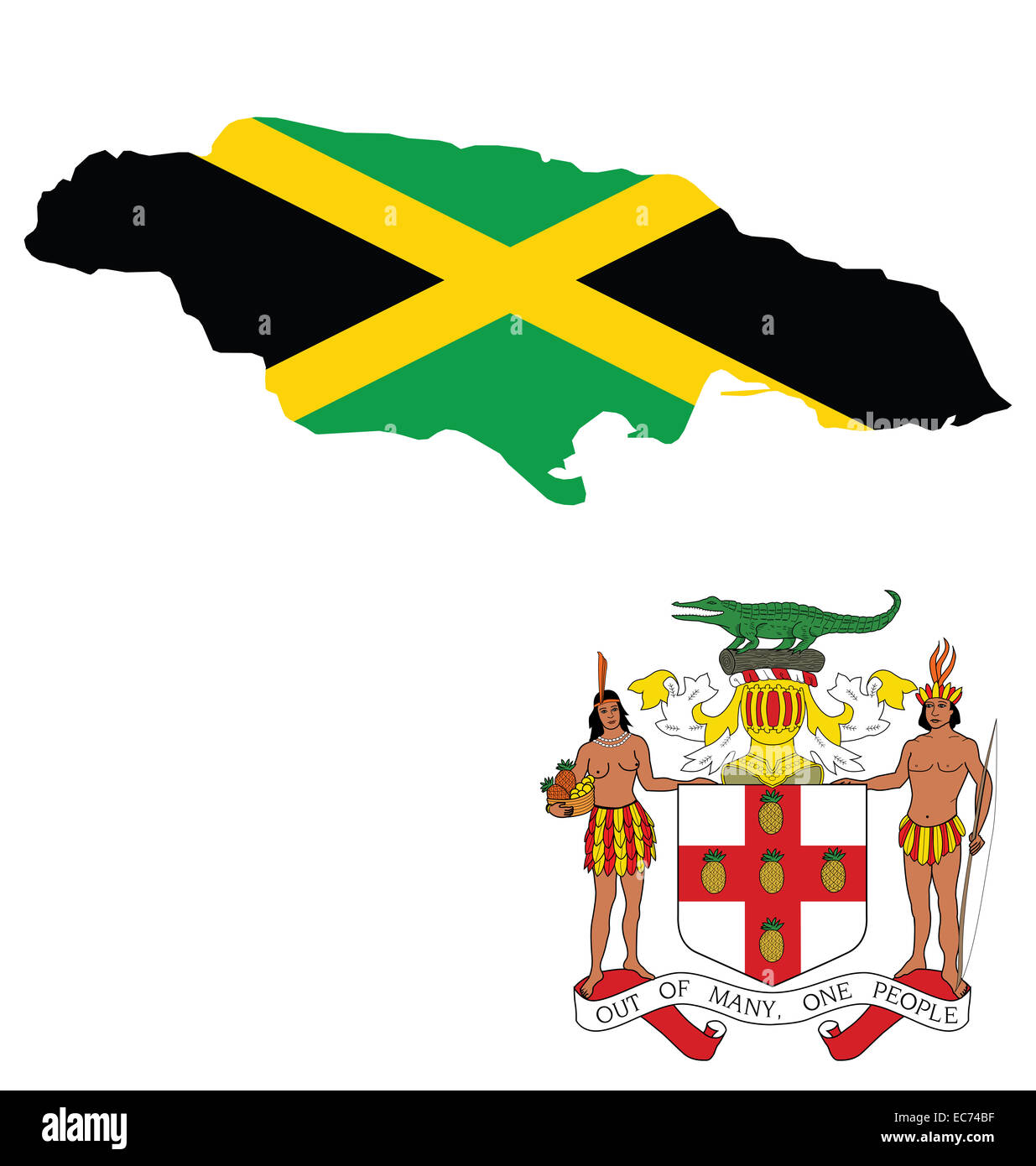 Jamaican Flag Cut Out Stock Images Amp Pictures