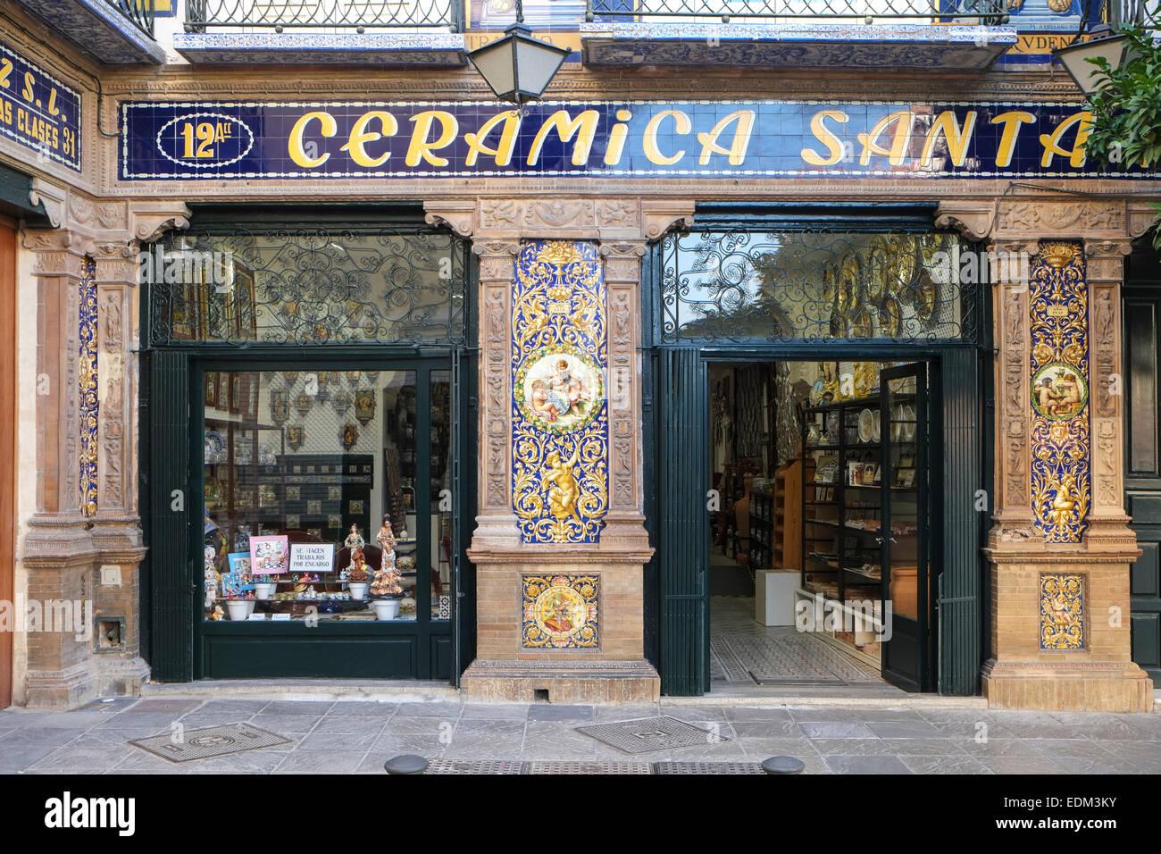 https www alamy com stock photo tradional ceramic tile shop seville spain 77273951 html