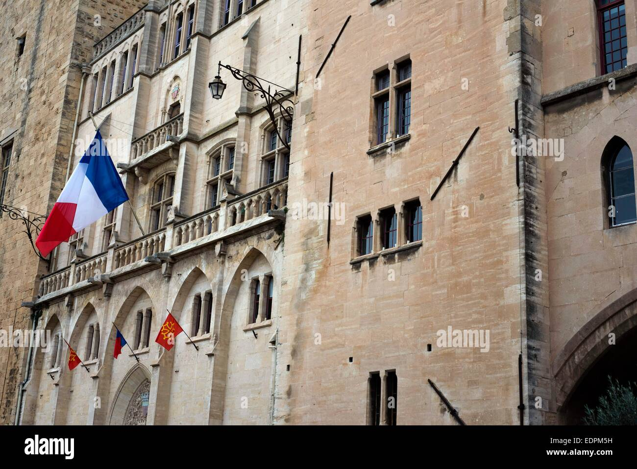 https www alamy com stock photo town hall square narbonne pedestrian shopping street in old city central 77330781 html