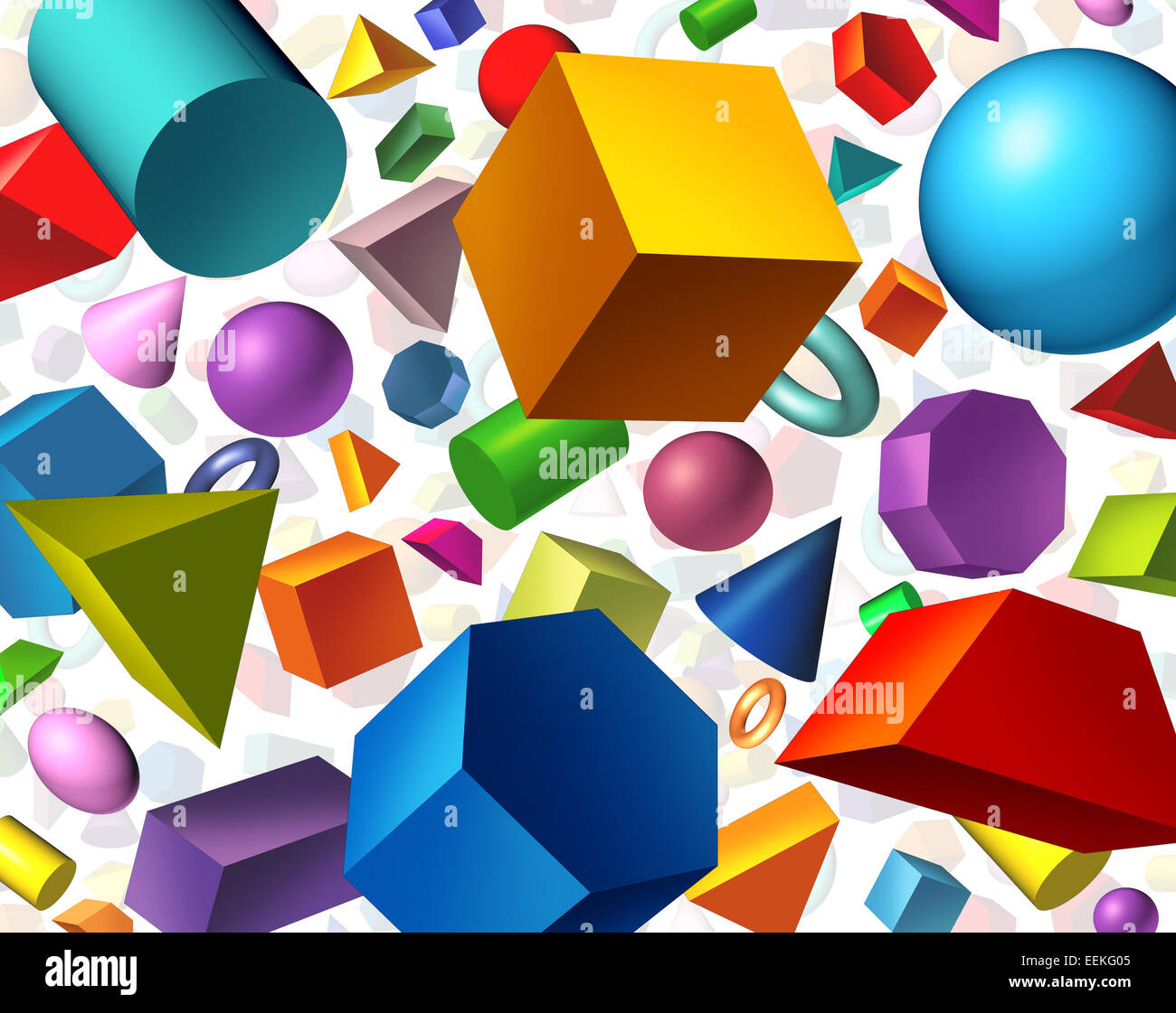 Geometric Shapes Background And Geometry Concept As Basic