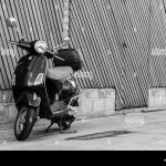 Vespa Black And White Stock Photos Images Alamy