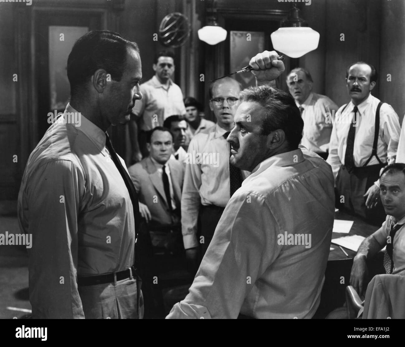 Henry Fonda Amp Lee J Cobb 12 Angry Men Stock Photo Royalty Free Image