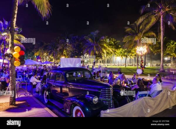 Miami Beach Florida Ocean Drive New Year's Eve Park ...