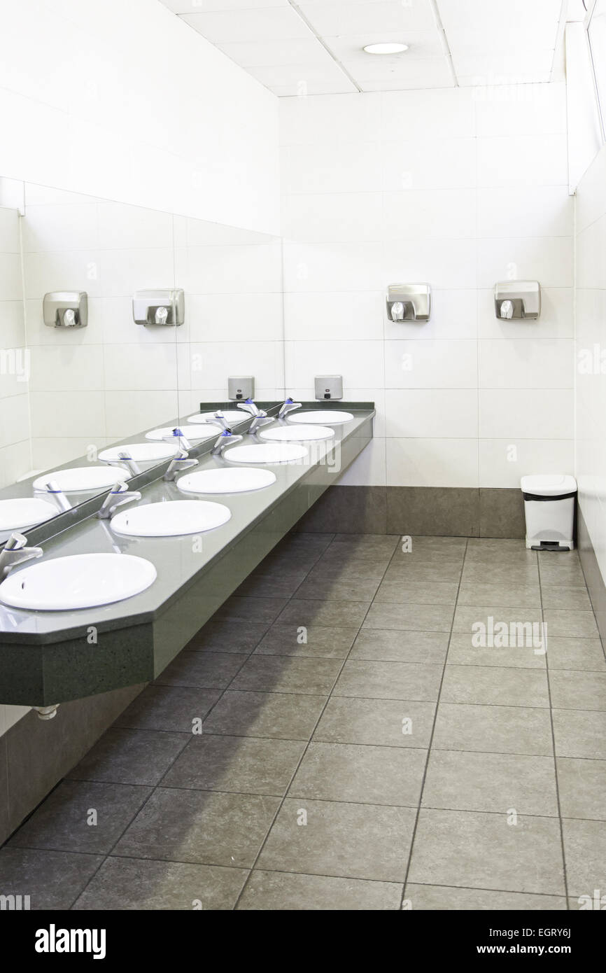 Sinks In A Public Toilets Sinks In Detail About The City Public Stock Photo Alamy