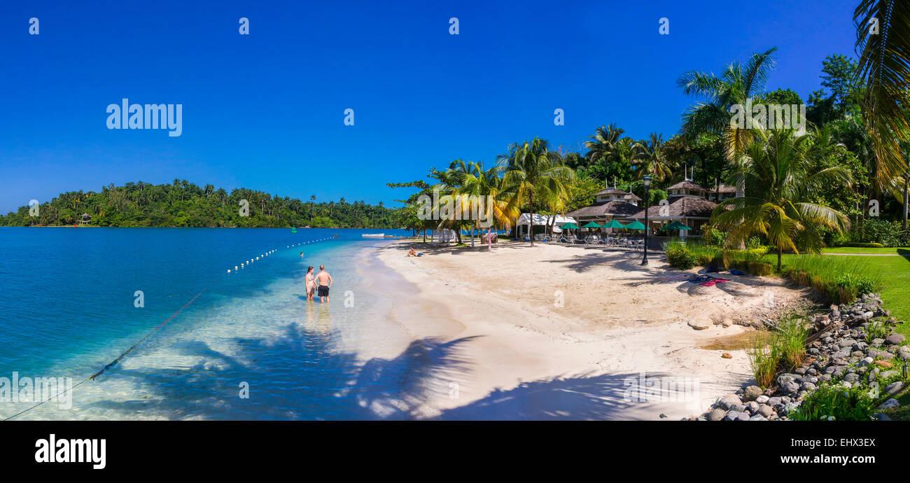 Jamaica Port Antonio Errol Flynn Marina People At Beach