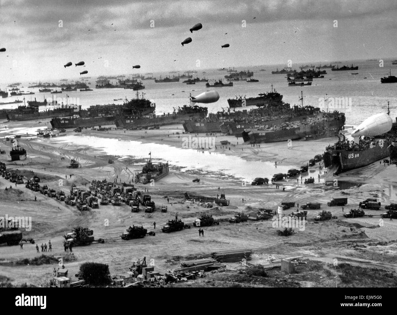 June The D Day Invasion Of Normandy Stock Photo