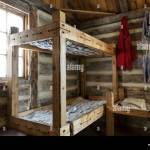 Rustic Bunk Beds And Living Quarters Of A Fur Trade Era Log Cabin At Stock Photo Alamy