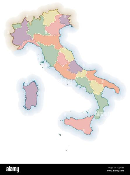 Political map of Italy Stock Photo  81542069   Alamy Political map of Italy