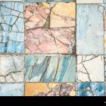 Colorful Ancient Roman Marble Floor Weathered And Broken Heritage Stock Photo Alamy