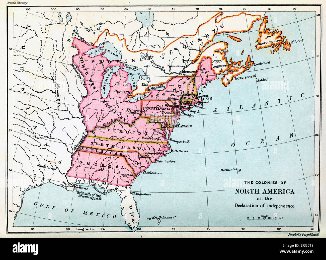 Colonies Of North America In At The United States